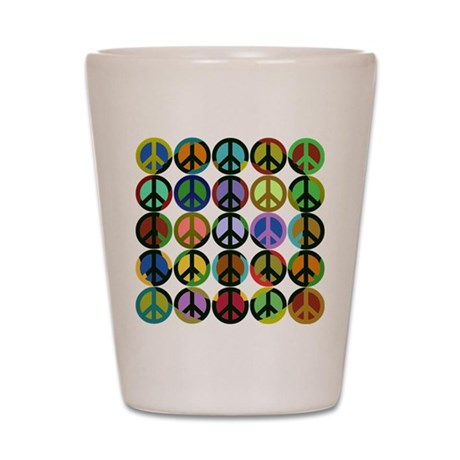 Cool Peace Signs Shot Glass