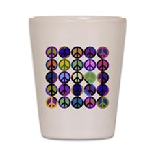 Mod Vintage Peace Shot Glass
