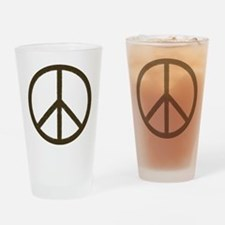 Cool Vintage Peace Sign Drinking Glass