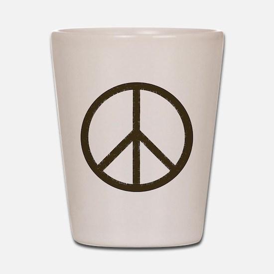 Cool Vintage Peace Sign Shot Glass