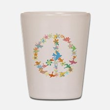 Abstract Art Peace Sign Shot Glass