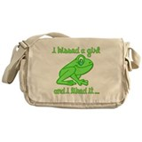 I kissed a girl and i liked it Messenger Bag