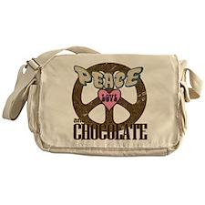 Peace Love and Chocolate Messenger Bag