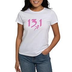 Pink 13.1 half-marathon Tee