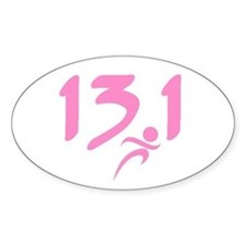 Pink 13.1 half-marathon Decal