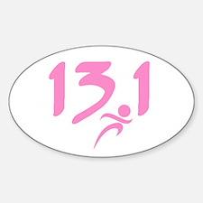 Pink 13.1 half-marathon Decal