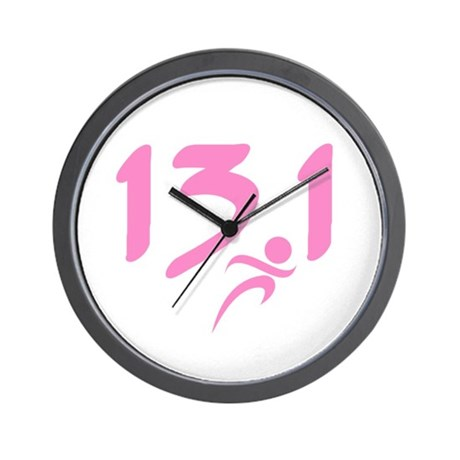 Pink 13.1 half-marathon Wall Clock