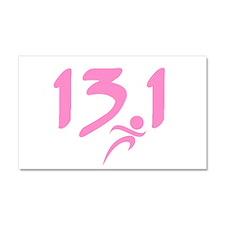 Pink 13.1 half-marathon Car Magnet 20 x 12
