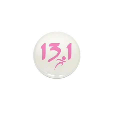 Pink 13.1 half-marathon Mini Button (100 pack)
