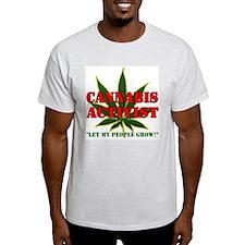 Cannabis Activist Ash Grey T-Shirt