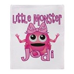 Little Monster Jodi Throw Blanket