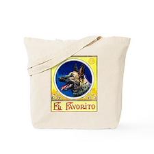 German Shepherd Cigar Label Tote Bag