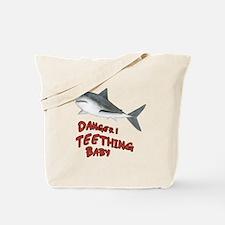 Shark Danger! Teething Tote Bag