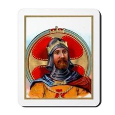 Medieval Knight Cigar Label Mousepad