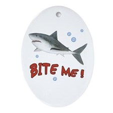 Shark - Bite Me Ornament (Oval)