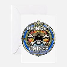 USN Navy Chiefs Backbone of the Fleet Greeting Car