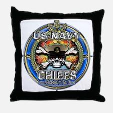 USN Navy Chiefs Backbone of the Fleet Throw Pillow