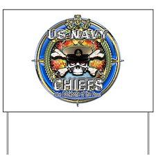 USN Navy Chiefs Backbone of the Fleet Yard Sign