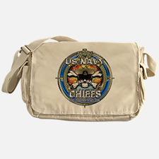 USN Navy Chiefs Backbone of the Fleet Messenger Ba