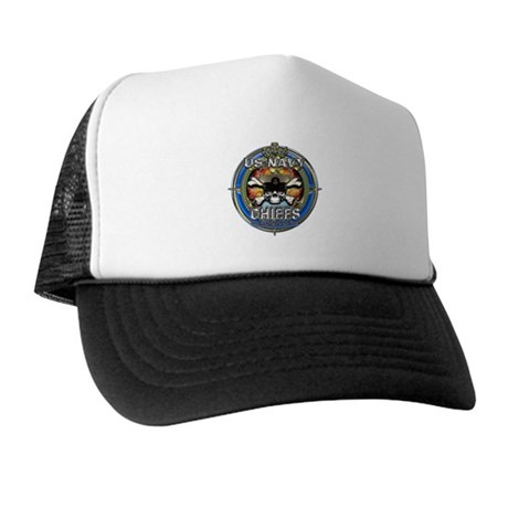 USN Navy Chiefs Backbone of the Fleet Trucker Hat