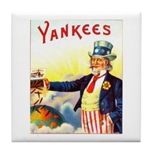 Yankees Cigar Label Tile Coaster