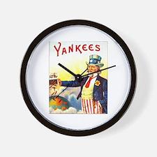 Yankees Cigar Label Wall Clock