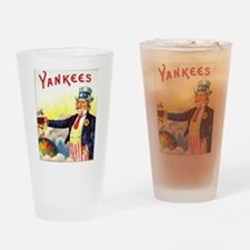 Yankees Cigar Label Drinking Glass