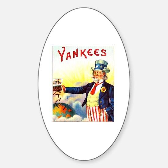 Yankees Cigar Label Sticker (Oval)