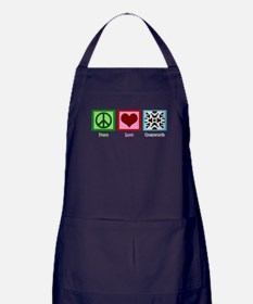 Peace Love Crosswords Apron (dark)
