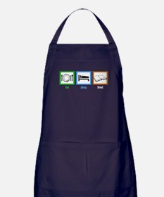 Eat Sleep Read Apron (dark)