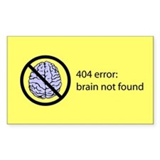 Brain Not Found Decal