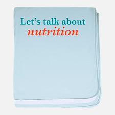 Talk Nutrition baby blanket