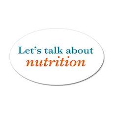 Talk Nutrition 22x14 Oval Wall Peel