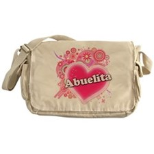 Abuelita Heart Art Messenger Bag
