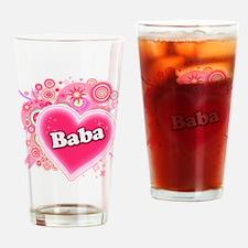 Baba Heart Art Drinking Glass