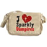 I Love Sparkly Vampires Messenger Bag