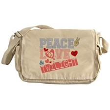 Peace Love and Twilight Messenger Bag
