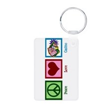 Peace Love Casinos Keychains