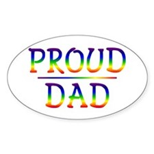 Proud Dad Oval Decal