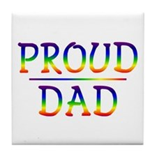 Proud Dad Tile Coaster