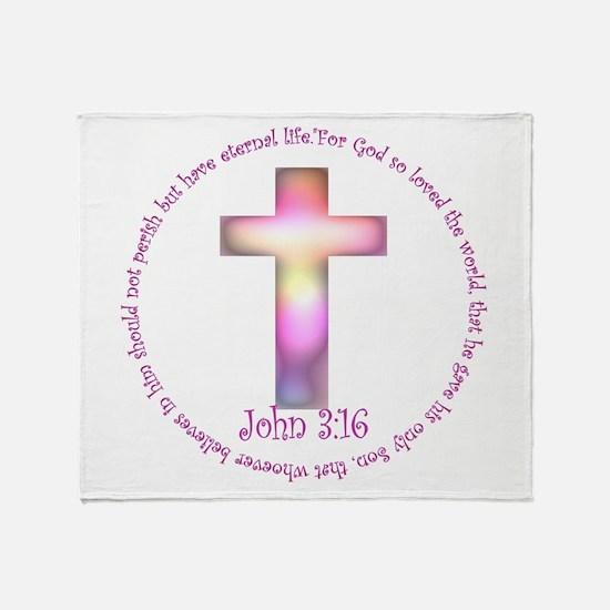 John 3:16 Throw Blanket