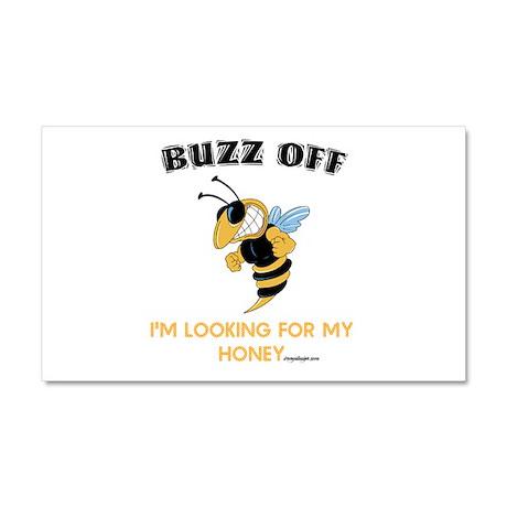 Buzz Off Bee Car Magnet 20 x 12