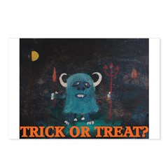 HALLOWEEN TRICK OR TREAT? Postcards (Package of 8)