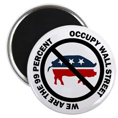 Occupy Wall Street Corporate Pig Magnet