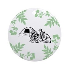 Camping Outdoors Ornament (Round)