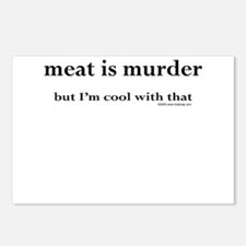 Meat is murder, but... Postcards (Package of 8)