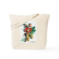 Wild West Two Blazing Guns Tote Bag