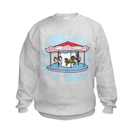 Carousel Pink and Blue Kids Sweatshirt