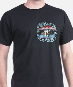 Carousel Pink and Blue T-Shirt