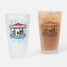 Carousel Pink and Blue Drinking Glass